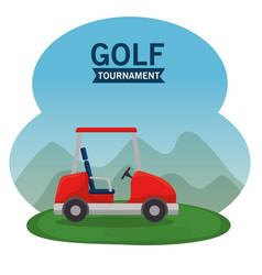 golf car on a golf course design vector image