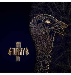 Graphic design with turkey vector image