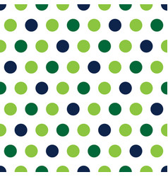 green and blue polka dots on white background vector image