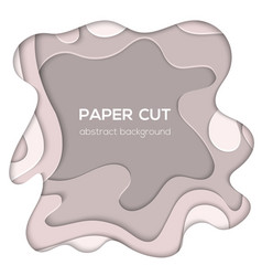 Grey abstract layout - paper cut vector