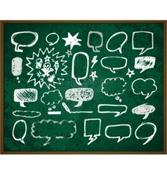 Hand-drawn doodles on green school board vector