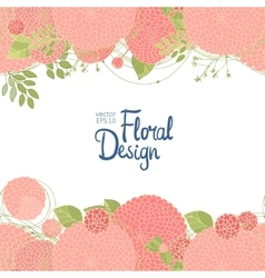Hand drawn floral border vector image