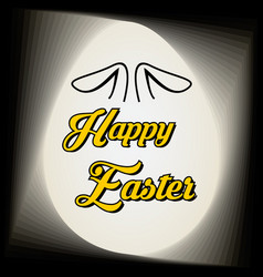 happy easter calligraphy design for holiday vector image