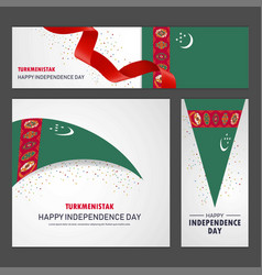Happy turkmenistan independence day banner vector