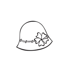 Hat outline icon vector