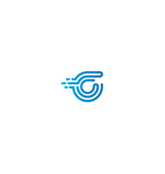 initial c technology logo vector image