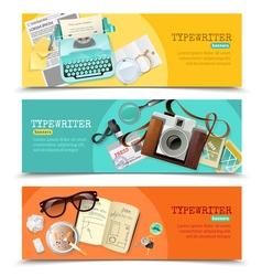 Journalist vintage typewriter banners vector
