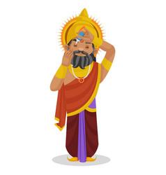King dhritarashtra cartoon character vector