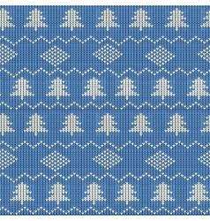 Knitting Pattern vector image