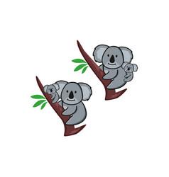 Koala and trees logo designs vector