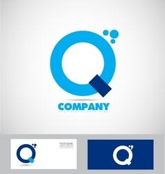Letter q blue simple logo vector