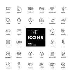 line icons set e-commerce vector image