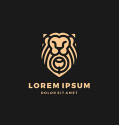 Lion gate lionsgate shield king logo gold vector