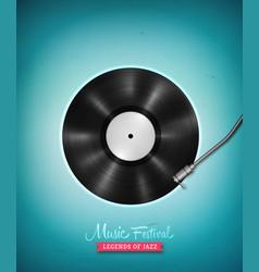 long-playing vinyl gramophone record music poster vector image