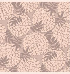 Marigold hand drawn seamless pattern vector