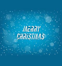 Merry christmas winter snowfall background vector