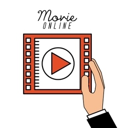 movie online vector image