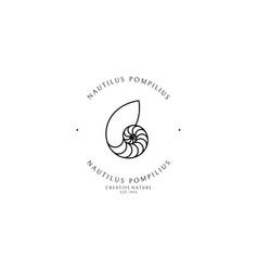 Nautilus logo vector
