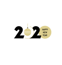 new year logo 2020 number design vector image