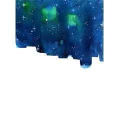 Night sky and star watercolor background vector