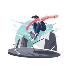 nimble guy street racer vector image