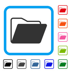 open folder framed icon vector image