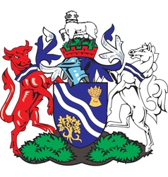 Oxfordhire County Coat-of-Arms vector image
