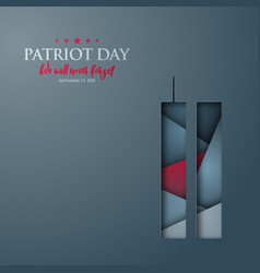 patriot day abstract banner with world trade vector image