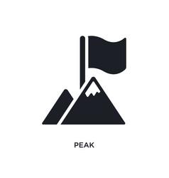 Peak isolated icon simple element from success vector