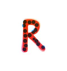 R letter logo handwritten with a red felt-tip pen vector