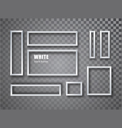 Realistic white blank picture frames collection vector