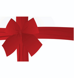 red bow on white background card vector image
