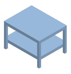 room table icon isometric style vector image