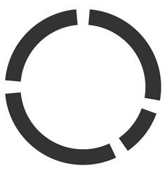 Round diagram flat icon vector