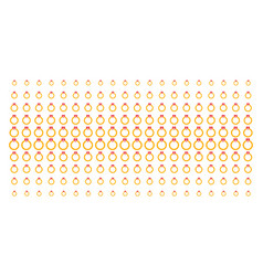 ruby ring shape halftone array vector image
