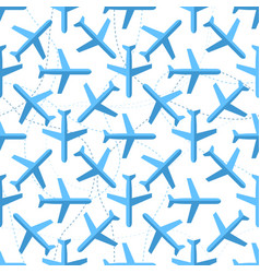 Seamless pattern with flat styled planes vector