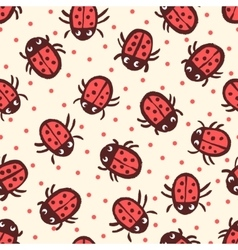 Seamless pattern with Ladybugs in vector image