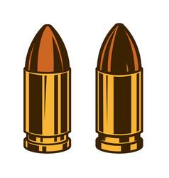 set handgun bullets design element for logo vector image