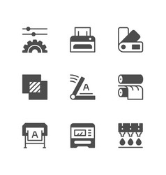 set icons of print vector image