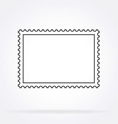 Simple classic postage stamp outline vector