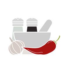 Spices glyph color icon vector
