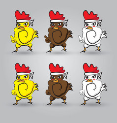 Strong chicken vector