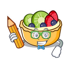 student fruit tart character cartoon vector image