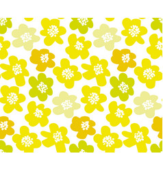 sunny lemon color summer floral in retro 60s style vector image