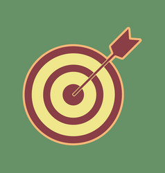 Target with dart cordovan icon and mellow vector