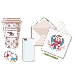 The goods for the baby stationery and toys vector