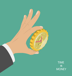 Time is money flat isometric concept vector