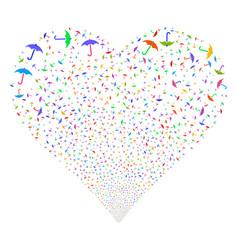 umbrella fireworks heart vector image