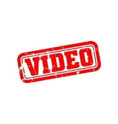 Video rubber stamp vector