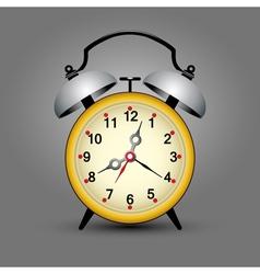 yellow clock vector image